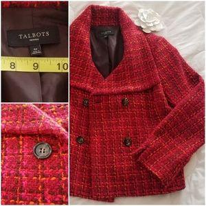 Talbots Tweed/Wool blend Blazer
